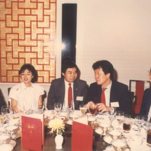 1985_Monthly_dinner_woth_guests_and_Founded_President